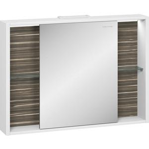 Зеркальный шкаф Edelform Белль 100, белый с макассар (2-763-44)  edelform concorde 100 махагон