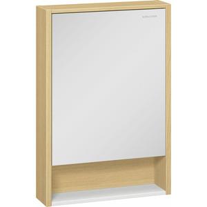 Зеркальный шкаф Edelform Уника 60, белый с дуб гальяно (2-746-45) edelform calma светлый дуб