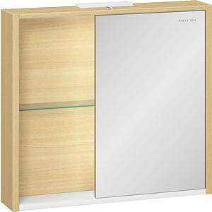 Зеркальный шкаф Edelform Уника 80, белый с дуб гальяно (2-744-45-S)  цена и фото