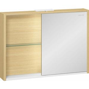 Зеркальный шкаф Edelform Уника 100, белый с дуб гальяно (2-741-45-S) edelform calma светлый дуб