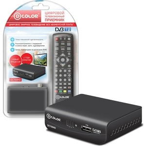 Тюнер DVB-T2 D-Color DC700HD тюнер цифровой dvb t2 d color dc1002hd hdmi usb черный