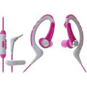 Наушники Audio-Technica ATH-SPORT1 iS pink 3 5mm trs male to male flat audio cable deep pink 100cm length