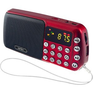 Радиоприемник Perfeo Синица красный (i70-red)