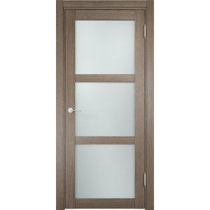 Дверь ELDORF Баден-2 остекленная 2000х600 экошпон Дуб дымчатый дверное полотно экошпон баден 05 дуб дымчатый 700х2000 мм