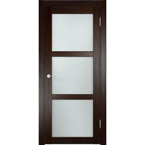 Дверь ELDORF Баден-2 остекленная 2000х600 экошпон Дуб темный дверь eldorf баден 2 остекленная 2000х800 экошпон дуб темный