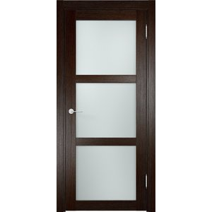 Дверь ELDORF Баден-2 остекленная 2000х700 экошпон Дуб темный дверь eldorf баден 2 остекленная 2000х800 экошпон дуб темный