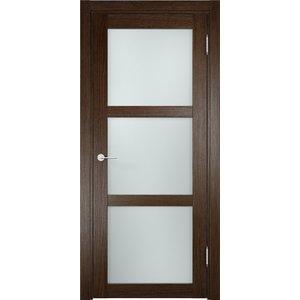 Дверь ELDORF Баден-2 остекленная 2000х800 экошпон Дуб табак