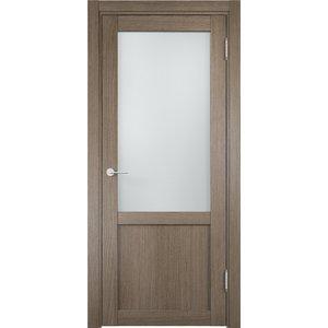 Дверь ELDORF Баден-4 остекленная 2000х600 экошпон Дуб дымчатый дверное полотно экошпон баден 05 дуб дымчатый 700х2000 мм