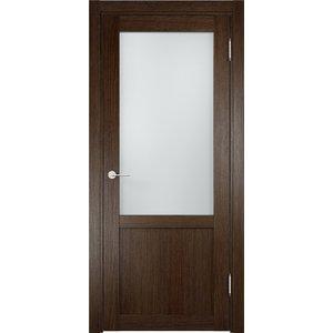 Дверь ELDORF Баден-4 остекленная 2000х600 экошпон Дуб табак