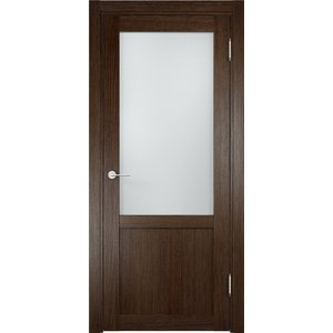 Дверь ELDORF Баден-4 остекленная 2000х800 экошпон Дуб табак
