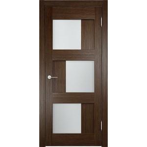 Дверь ELDORF Баден-10 остекленная 1900х550 экошпон Дуб табак табак