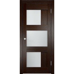Дверь ELDORF Баден-10 остекленная 1900х550 экошпон Дуб темный дверь межкомнатная ламинированная коллекция 10 8ф 2000х600х40 мм остекленная ст фьюзинг италорех л 11
