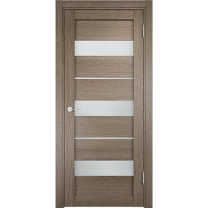 Дверь ELDORF Мюнхен-2 остекленная 2000х600 экошпон Дуб дымчатый