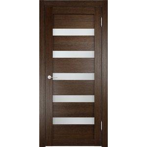 Дверь ELDORF Мюнхен-3 остекленная 1900х550 экошпон Дуб табак