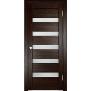 Дверь ELDORF Мюнхен-3 остекленная 2000х600 экошпон Дуб темный