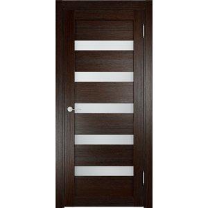 Дверь ELDORF Мюнхен-3 остекленная 2000х700 экошпон Дуб темный