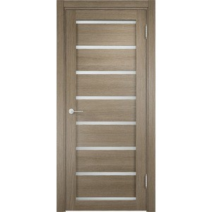 Дверь ELDORF Мюнхен-5 остекленная 2000х600 экошпон Дуб дымчатый дверь eldorf мюнхен 5 остекленная 2000х600 экошпон дуб темный