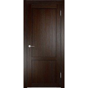 Дверь ELDORF Баден-3 глухая 2000х800 экошпон Дуб темный дверь eldorf баден 2 остекленная 2000х800 экошпон дуб темный