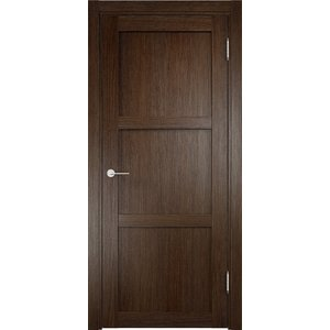 Дверь ELDORF Баден-1 глухая 2000х600 экошпон Дуб табак