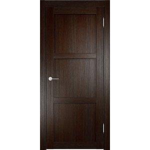 Дверь ELDORF Баден-1 глухая 2000х800 экошпон Дуб темный дверь eldorf баден 2 остекленная 2000х800 экошпон дуб темный