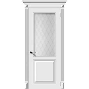 Дверь DEMFA Блюз остекленная 2000х800 эмаль Белый наличник demfa эмаль 2140х70х12 мм белый для капри комплект 5шт