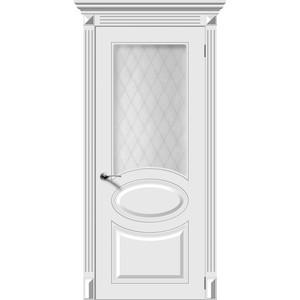 Дверь DEMFA Джаз остекленная 2000х600 эмаль Белый наличник demfa эмаль 2140х70х12 мм белый для капри комплект 5шт