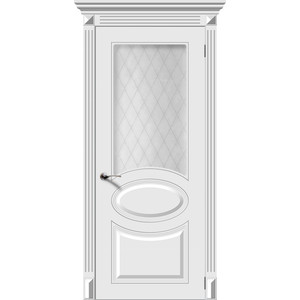 Дверь DEMFA Джаз остекленная 2000х800 эмаль Белый наличник demfa эмаль 2140х70х12 мм белый для капри комплект 5шт