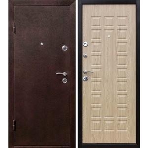 Дверь ЦИТАДЕЛЬ Йошкар входная 2050х960 металлическая Антик медь/Ель карпатская (левая)