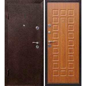 Дверь ЦИТАДЕЛЬ Йошкар входная 2050х860 металлическая Антик медь/Золотистый дуб (левая)
