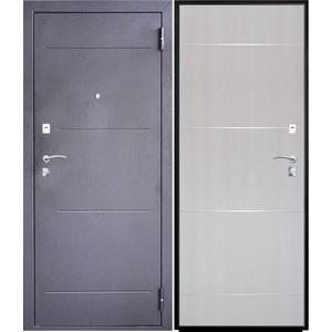 Дверь SD Prof-2 Молдинг входная 2050х880 металлическая Тёмное серебро/Дуб светлый (левая)