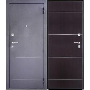 Дверь SD Prof-2 Молдинг входная 2050х980 металлическая Тёмное серебро/Венге (левая) sd prof 5 new line входная 2050х970 металлическая черный шелк венге левая