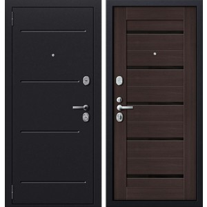 Дверь SD Prof-51 входная 2050х880 металлическая Серый антик/Венге/Стекло (левая) sd prof 5 new line входная 2050х970 металлическая черный шелк венге левая