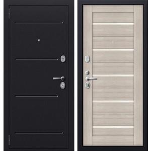 Дверь SD Prof-51 входная 2050х980 металлическая Серый антик/Дуб беленый/Стекло (левая) sd prof 2 стандарт входная 2050х980 металлическая медный антик итальянский орех левая