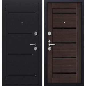 Дверь SD Prof-51 входная 2050х980 металлическая Серый антик/Венге/Стекло (левая) sd prof 5 new line входная 2050х970 металлическая черный шелк венге левая