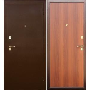Дверь SD Prof-2 Стандарт входная 2050х980 металлическая Медный антик/Итальянский орех (левая) дверь цельно металлическая дцм медный антик медный антик 880х2050