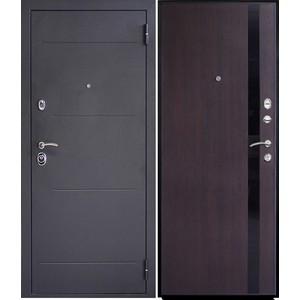 Дверь SD Prof-5 New Line входная 2050х880 металлическая Черный шелк/Венге (левая) sd prof 5 new line входная 2050х970 металлическая черный шелк венге левая