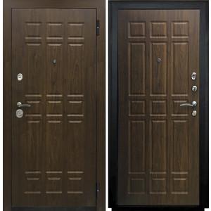 Дверь SD Prof-5 Сенатор входная 2050х880 металлическая Орех/Орех (левая) sd prof 5 new line входная 2050х970 металлическая черный шелк венге левая