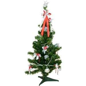 Елка искусственная Snowmen настольная 84 см со звездой (Е50760)