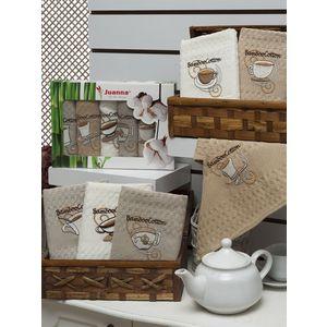 Набор кухонных полотенец Juanna бамбук/вафельное 40x60 6 штук (5010)