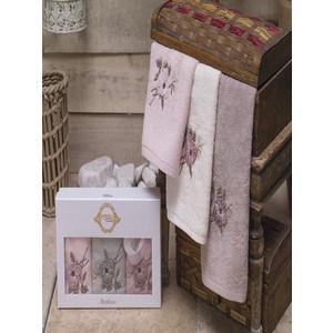 Набор кухонных полотенец Pupilla Miranda 3D бамбук 30x50 3 штуки (8679)