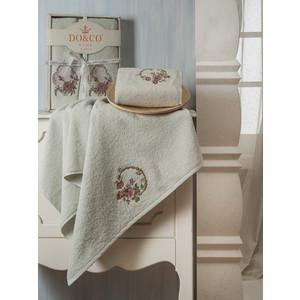Набор из 2 полотенец Do and Co Yasmin с вышивкой (50х90/70х140) (8585 мятный) набор из 3 полотенец merzuka sakura 50х90 2 70х140 8432 оранжевый