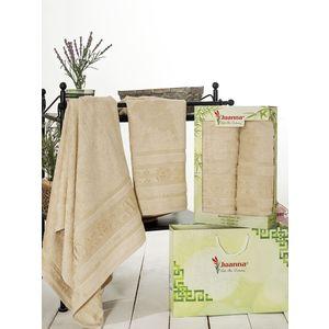Набор из 2 полотенец Juanna Kafa бамбук (50х90/70х140) (7592 бежевый) набор из 3 полотенец merzuka sakura 50х90 2 70х140 8432 оранжевый