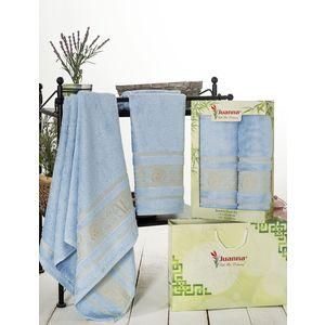 Набор из 2 полотенец Juanna Kafa бамбук (50х90/70х140) (7592 голубой) набор из 3 полотенец merzuka sakura 50х90 2 70х140 8432 оранжевый