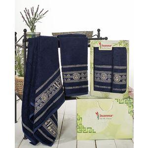 Набор из 2 полотенец Juanna Kafa бамбук (50х90/70х140) (7592 синий)