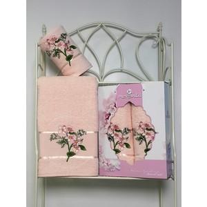 Набор из 2 полотенец Merzuka Sakura garden (50х80/70х130) (8978 пудра) ванна акриловая inspire am pm 180х80