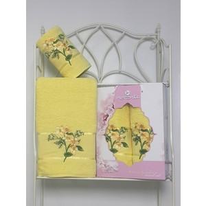 Набор из 2 полотенец Merzuka Sakura garden (50х80/70х130) (8978 светло-жёлтый) набор из 3 полотенец merzuka sakura 50х90 2 70х140 8432 оранжевый