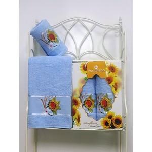 где купить Набор из 2 полотенец Merzuka Sunflower (50х80/70х130) (8979 светло-голубой) по лучшей цене