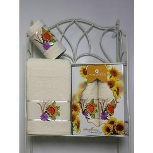 где купить Набор из 2 полотенец Merzuka Sunflower (50х80/70х130) (8979 кремовый) по лучшей цене