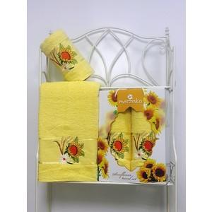 Набор из 2 полотенец Merzuka Sunflower (50х80/70х130) (8979 светло-жёлтый)