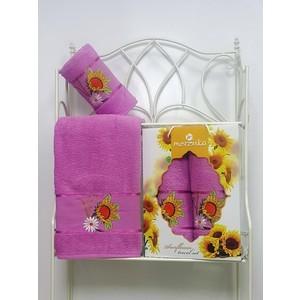 где купить Набор из 2 полотенец Merzuka Sunflower (50х80/70х130) (8979 светло-лиловый) по лучшей цене